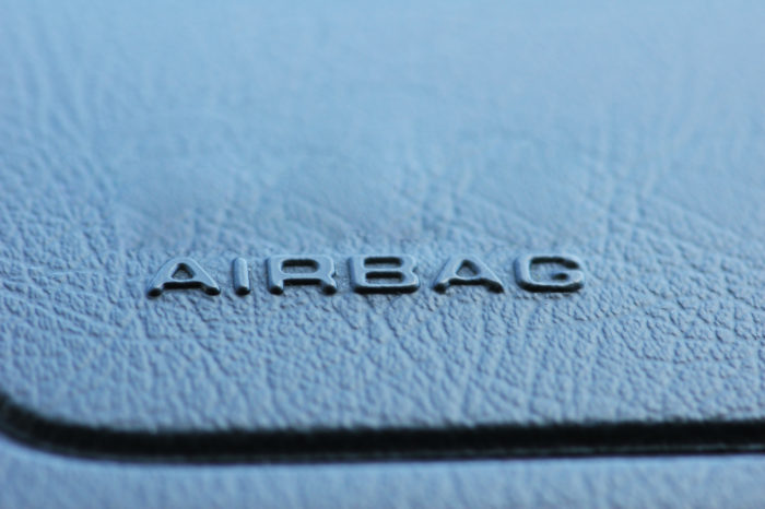 airbag on dashboard of