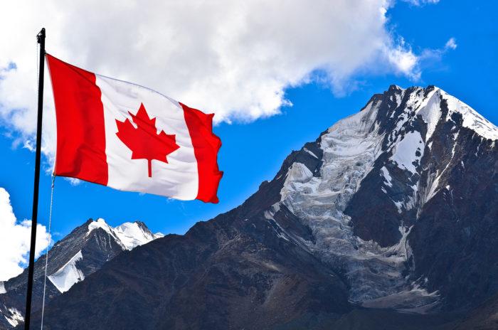 canada flag near indian day school